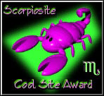 Scorpiosite Cool Site Award - August 28, 2000